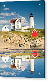 Cape Neddick Light  Reflections Acrylic Print