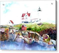 Cape Neddick Lighthouse Me Acrylic Print by Carla Palmer