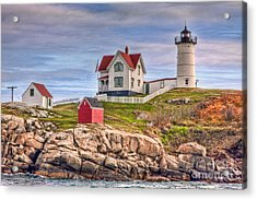 Cape Neddick Nubble Lighthouse II Acrylic Print by Clarence Holmes