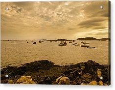 Cape Porpoise Sunset Acrylic Print by Bob Orsillo