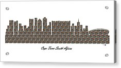 Cape Town South Africa 3d Stone Wall Skyline Acrylic Print