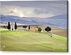 Capella De Vitaleta Church Near Pienza Tuscany Italy Acrylic Print by Robert Leon