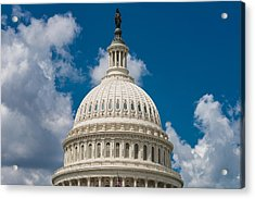 Capital Dome Washington D C Acrylic Print by Steve Gadomski