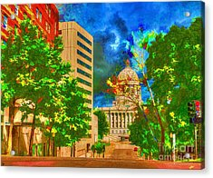 Capital - Jefferson City Missouri - Painting Acrylic Print by Liane Wright