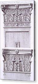 Capitals From The Temple Near The Roman Baths Acrylic Print