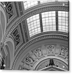 Capitol Architecture - Bw Acrylic Print by Jenny Hudson