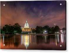 Acrylic Print featuring the photograph Capitol At Night by Michael Donahue