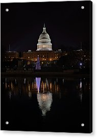 Capitol Christmas - 2012 Acrylic Print by Metro DC Photography