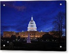 Capitol Christmas - 2013 Acrylic Print