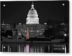 Acrylic Print featuring the photograph Capitol Christmas by Shawn O'Brien