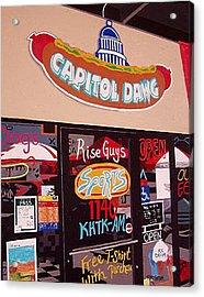 Capitol Dawg Acrylic Print by Paul Guyer