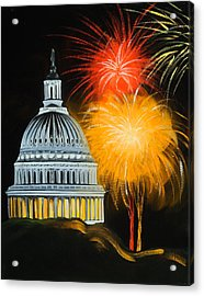 Capitol Fourth Of July Acrylic Print by Anne Lewis