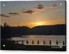 Acrylic Print featuring the photograph Capitol Lake Sunset by Susan Parish