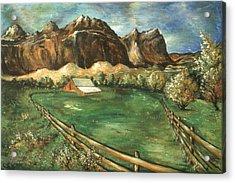 Capitol Reef Utah - Landscape Art Painting Acrylic Print