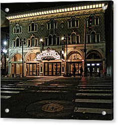 Acrylic Print featuring the photograph Capitol Theatre by Ely Arsha