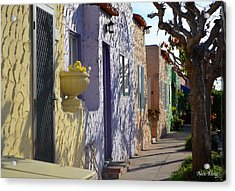 Acrylic Print featuring the photograph Capitola Beach Homes by Alex King