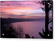 Capitola Bluffs Acrylic Print by Lora Lee Chapman