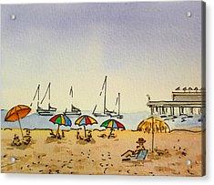 Capitola - California Sketchbook Project  Acrylic Print by Irina Sztukowski