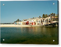 Acrylic Print featuring the photograph Capitola Villas by Tamyra Crossley