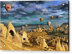 Cappadocia Ballons Fiesta Acrylic Print
