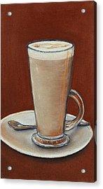 Cappuccino Acrylic Print by Anastasiya Malakhova