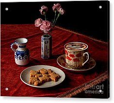 Cappuccino Coffee Acrylic Print by Donald Davis