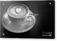 Cappuccino  Acrylic Print by Louise Fahy
