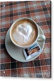 Cappuccino Love Acrylic Print by Ausra Huntington nee Paulauskaite