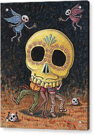 Caprichos Calaveras #2 Acrylic Print by Holly Wood