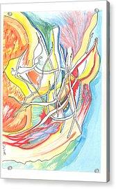 Capricious Acrylic Print by Donna Crist