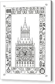 Acrylic Print featuring the drawing Capricious Time by Mary J Winters-Meyer