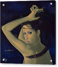 Capricorn From Zodiac Series Acrylic Print by Dorina  Costras