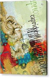 Capricorn Star Acrylic Print by Corporate Art Task Force