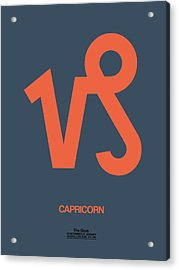 Capricorn Zodiac Sign Orange Acrylic Print