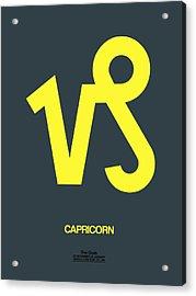 Capricorn Zodiac Sign Yellow Acrylic Print