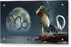 Capricorn Zodiac Symbol Acrylic Print by Daniel Eskridge