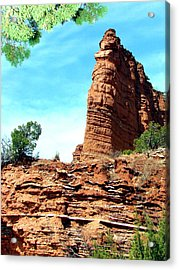 Acrylic Print featuring the photograph Caprock Canyon Red by Linda Cox