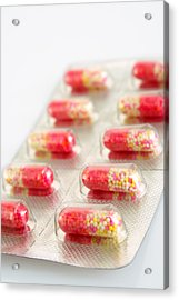 Capsules In Blister Pack Acrylic Print by Visage