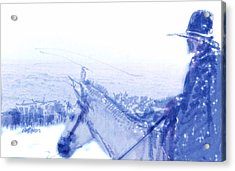 Capt. Call In A Snow Storm Acrylic Print