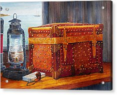 Acrylic Print featuring the painting Capt. Murray's Chest by Roger Rockefeller