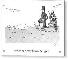 Captain Ahab Finds A Small Whale Acrylic Print
