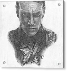 Captain America Acrylic Print by Christine Jepsen