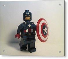 Captain America Acrylic Print by Harrison Matlock