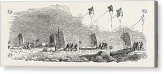 Captain Austins Arctic Expedition Western Division Acrylic Print
