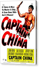 Captain China, Us Poster, John Payne Acrylic Print by Everett