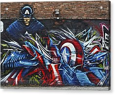 Captain Graffiti Acrylic Print by Frozen in Time Fine Art Photography