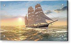 Captain Larry Paine Clippership Acrylic Print