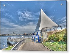 Captain Scott Exhibition Sails Acrylic Print by Steve Purnell