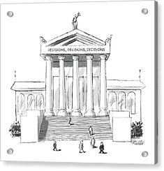Captionless  'decisions Acrylic Print