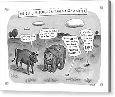 Captionless The Bull Acrylic Print by Roz Chast